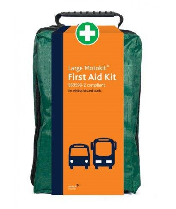 Motorists First Aid Kit Large in Soft Case - British Std  - Large BSI Motokit - Vehicle First Aid Kit BS8599-2