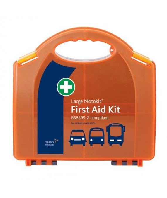 Motorists First Aid Kit Large in Hard Case - British Std  - Large BSI Motokit - Vehicle First Aid Kit BS8599-2