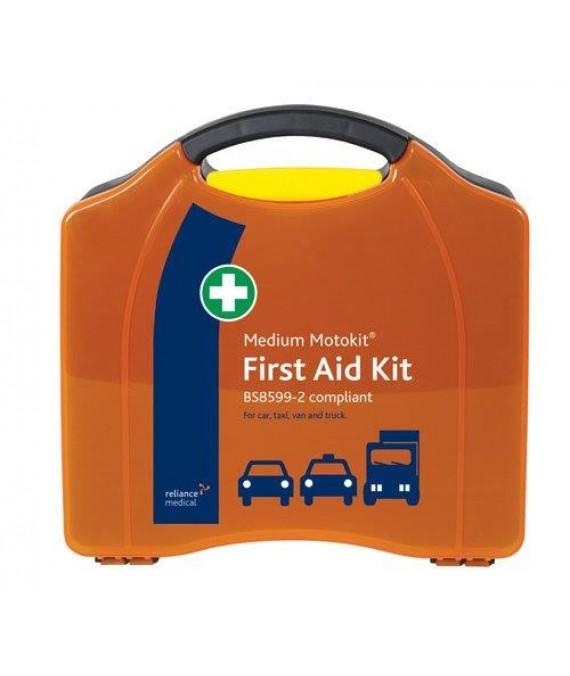 Motorists First Aid Kit Medium in Hard Case - British Std  - Medium BSI Motokit - Vehicle First Aid Kit BS8599-2
