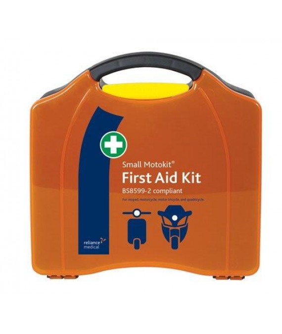 Motorists First Aid Kit Small in Hard Case - British Std  - Small BSI Motokit - Vehicle First Aid Kit BS8599-2