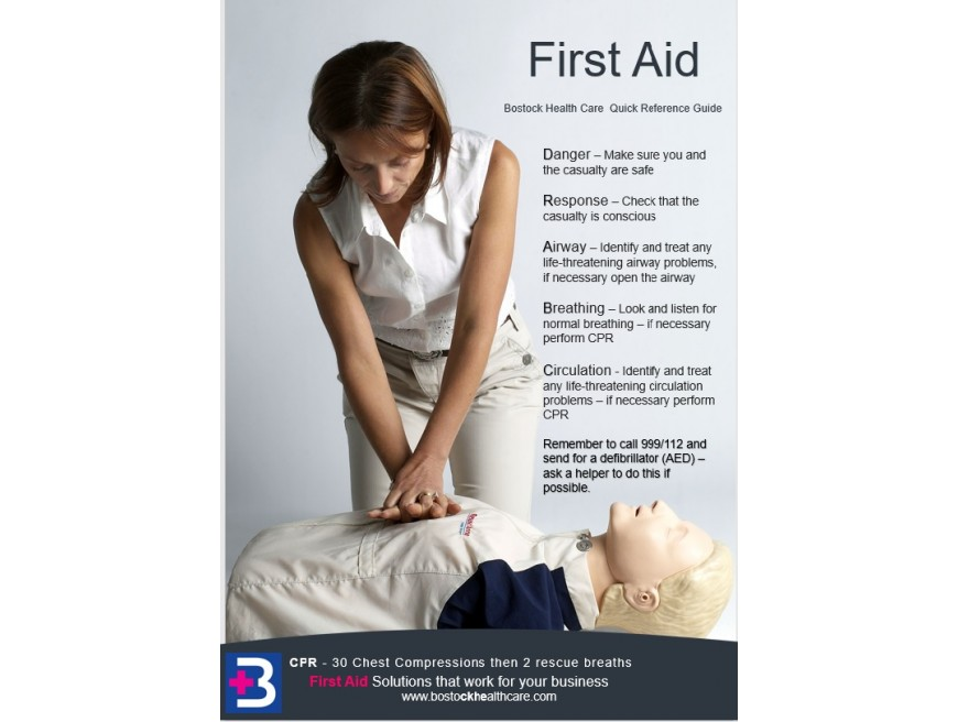 DR ABC Poster - Quick Reference First Aid Guide - FREE