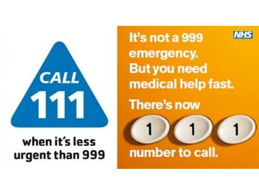 Dial 111 when It's less Urgent than 999