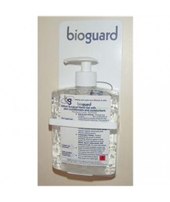Bioguard Disinfectant Surgical Hand Gel Wall Bracket - Empty Bracket to Fill with Gel