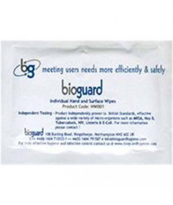 Bioguard Antiseptic Wipes for Skin - 10 x Individual sachets