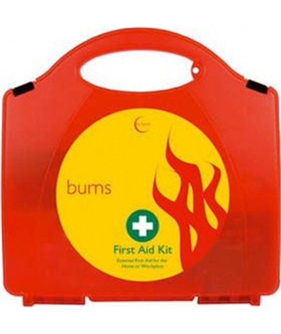 Burns First Aid Kit in Red Box