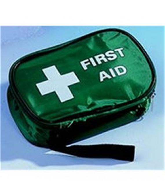 One Person First Aid Kit Green Zipped