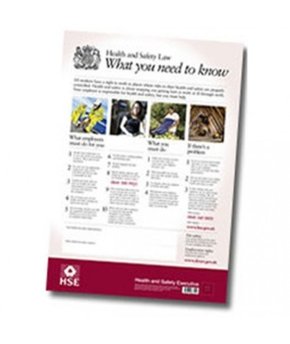 Health and Safety Law Laminated Poster
