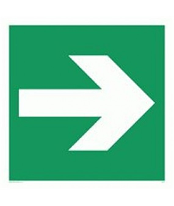Arrow Symbol Adhesive Sign