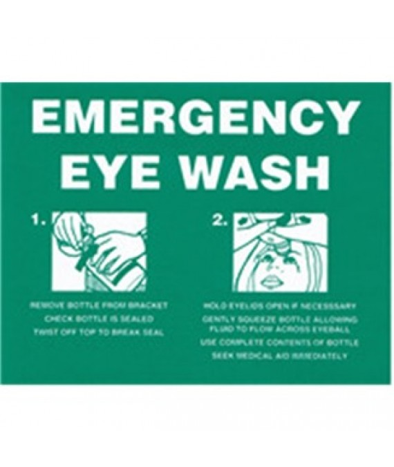 Adhesive Emergency Eyewash Sign  150 x 120mm