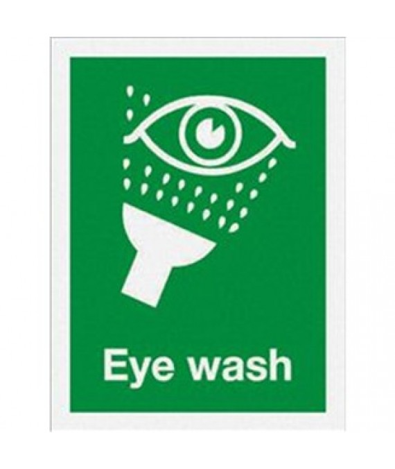 Large Eye Wash Sign Adhesive 300 x  220mm