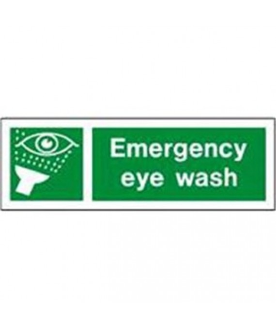 Emergency Eyewash Adhesive Sign 300 x 100mm