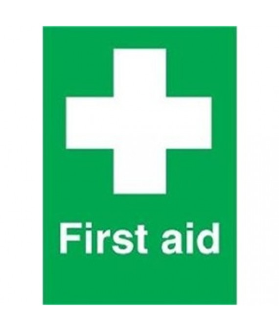 First Aid Sign Adhesive 150 x 100mm