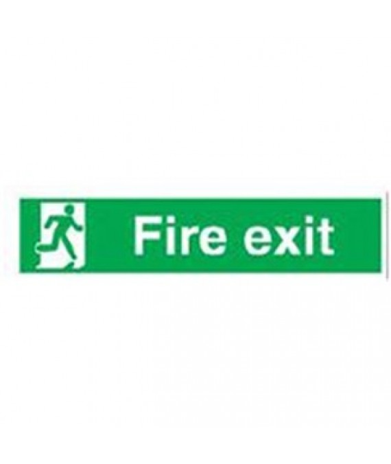 Adhesive Fire Escape Sign 400 x 140mm